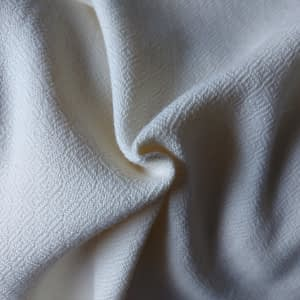 Diamond twill natural white thick