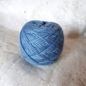 Yarn wool light blue