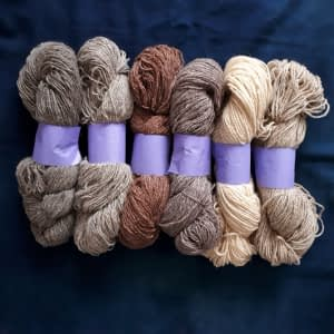 Yarn wool twined all colors