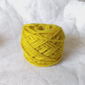 Yarn wool dark yellow