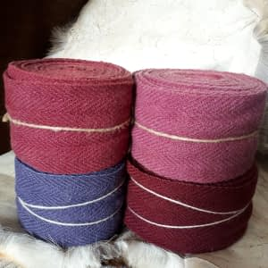 Leg wraps blue logwood & cochenille