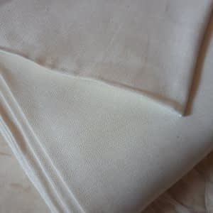 Diamond twill linen white bleached