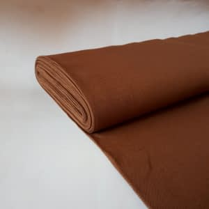 Plainweave linen orange brown