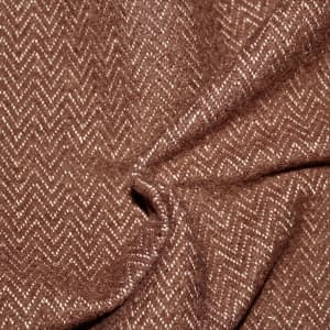 Herringbone wool brown & creme