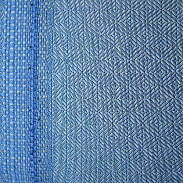 Diamond twill wool baby-blue&grey